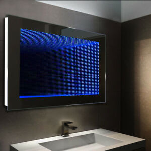 3d Infinity Illuminated Led Bathroom Mirror Wall Lights