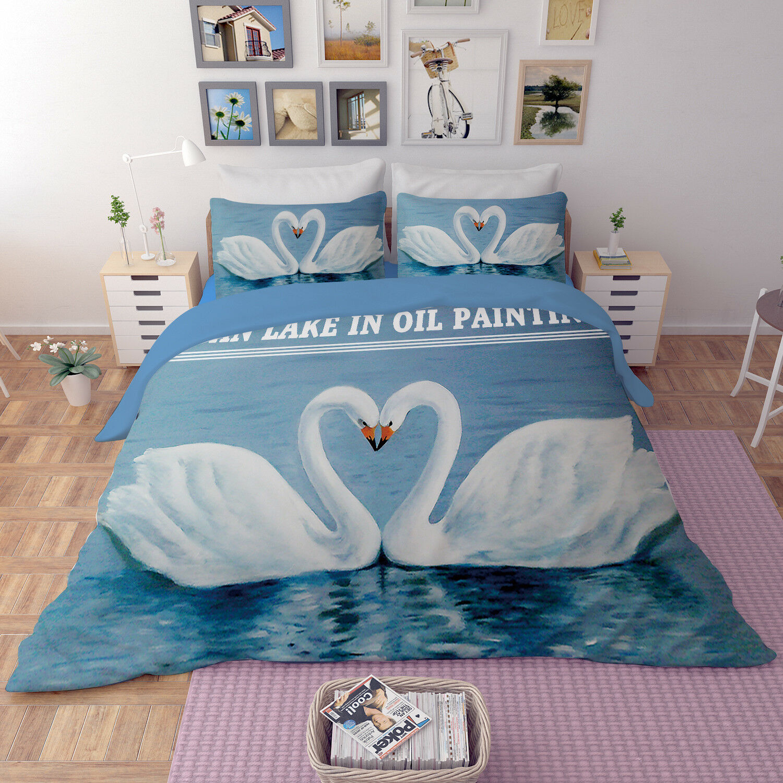 3D Weiß Sawn 807 Bed Pillowcases Quilt Duvet Cover Set Single Queen UK Kyra