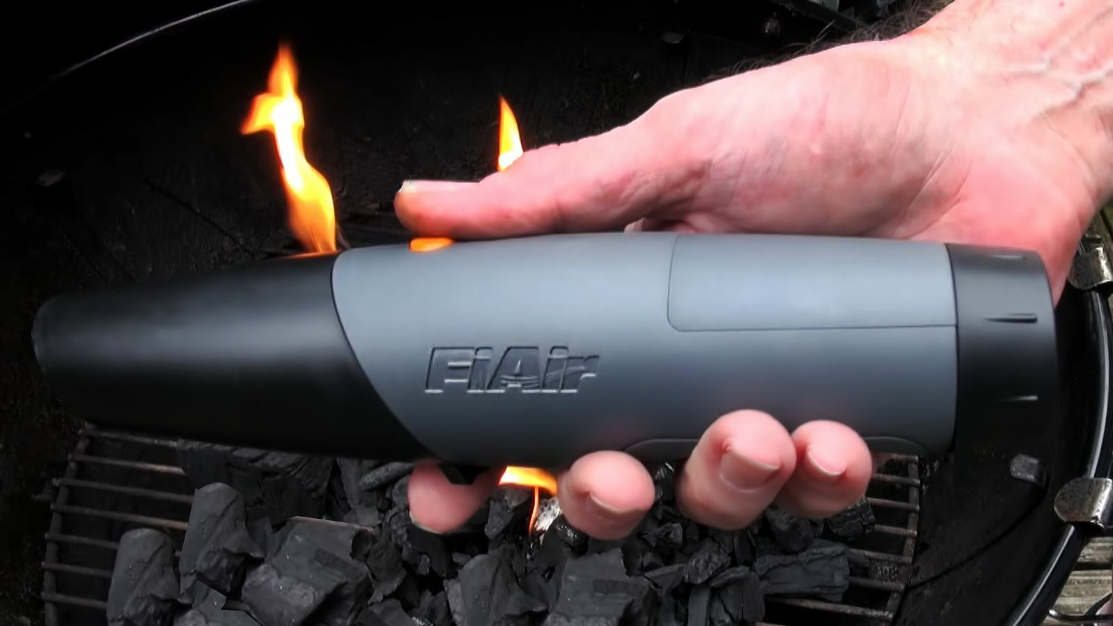 fiair u2014air blower fast fire starter for charcoal grill bbq