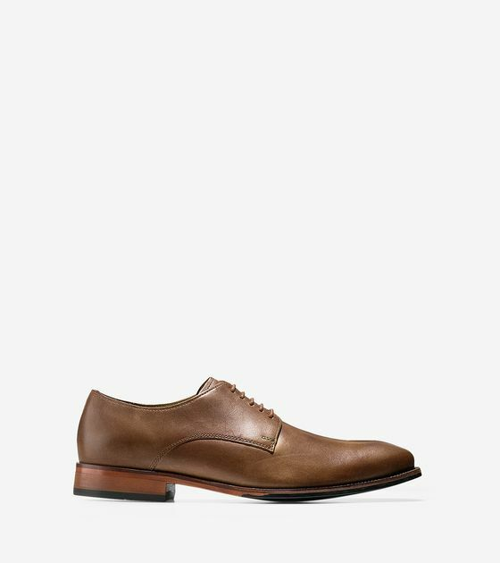 228 New Mens cole haan williams cap toe oxford camel size 7.5M