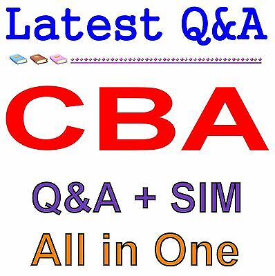 Business Architecture Guild Certified Business Architect CBA Exam Q/&A PDF+SIM