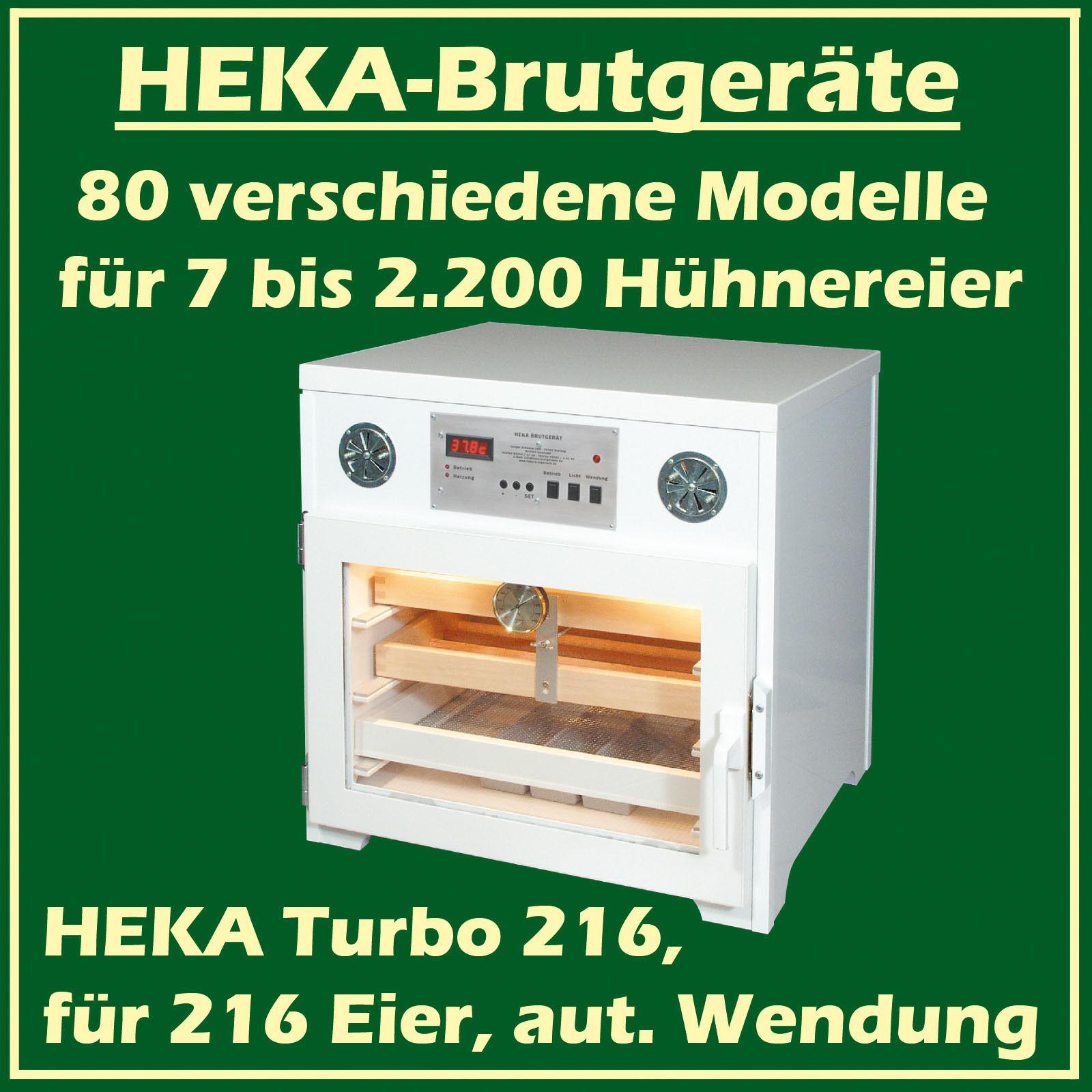 Heka Turbo 216 - Incubatrice in Plastica per 216 Uova, Con