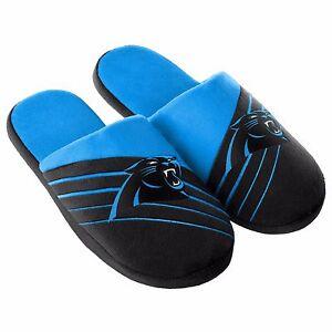 Paar Carolina Panthers groß Logo Slip Pantoffeln Team Farbe House Schuhe blg16