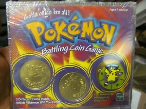 SEALED 1999 POKEMON BATTLING COIN GAME FREE SHIPPING