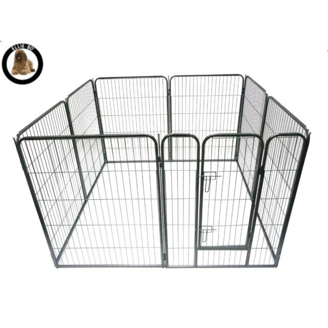 Ellie-Bo Heavy Duty 8 Piece Puppy Dog Play Pen Enclosure Whelping Pen 100cm High