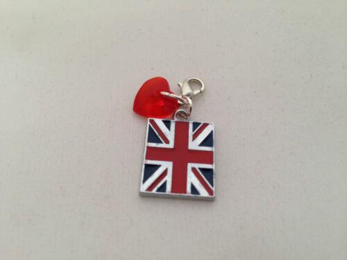 British Flag Union Jack Clip encanto en la Caja Roja-libre de envío