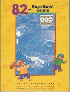 Football-82nd-Rose-Bowl-Game-1996-Program-Northwestern-Wildcats-VS-USC