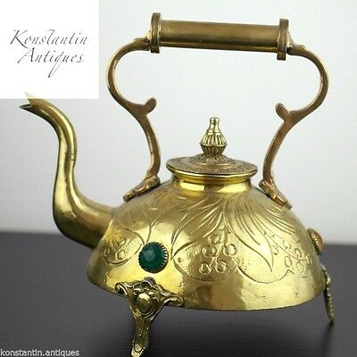 Antique brass hot water Kettle Classic Interior gift