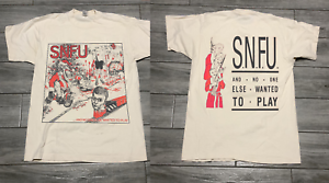 snfu 1985 no one else wanted to play promo tour tshirt rprnt size S-2XL