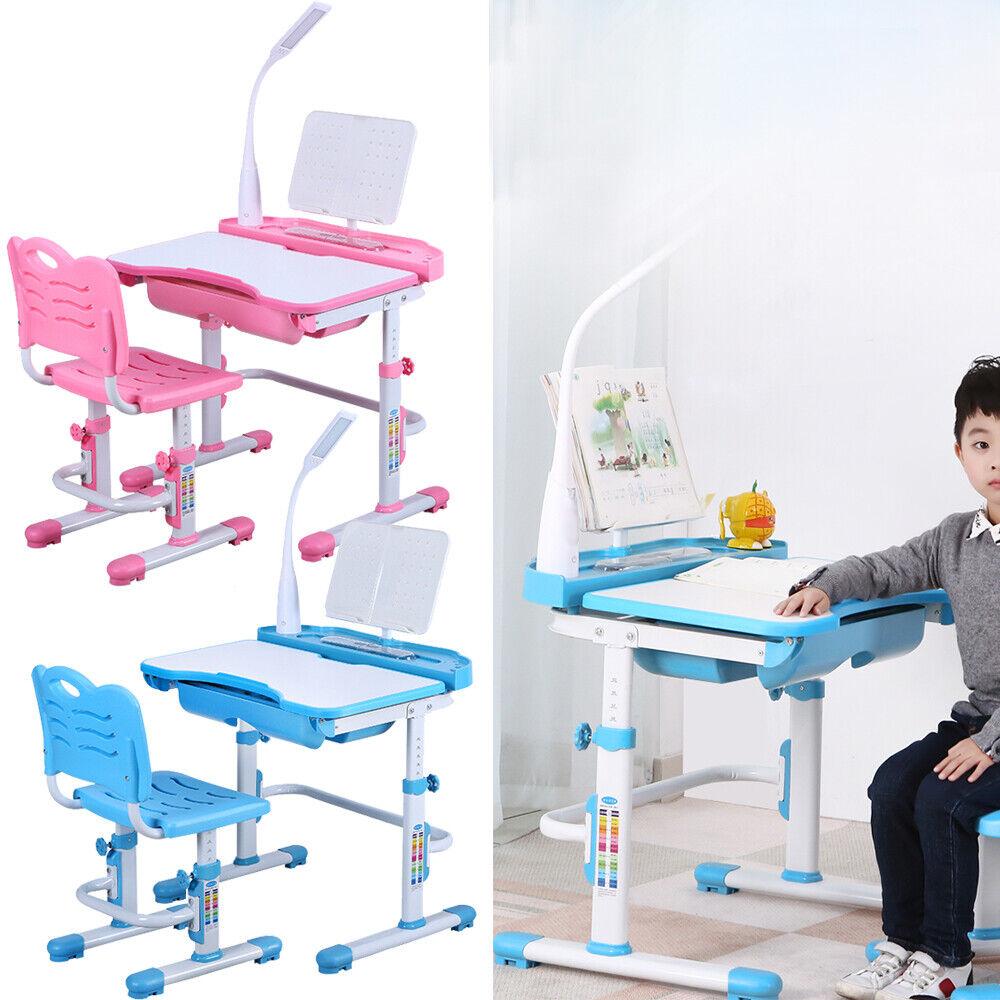 Bureau d'enfant bureau incliné & réglable en hauteur avec DEL Lumière DHL