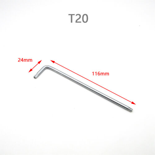 Long Arm Torx Star Bit Key L-Wrench for Torx Security Pin Tamper Machine Screw
