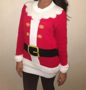 New Mens Santa Sledge New York Eve Crew Neck Christmas Jumper Size S XXL