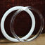 """thumbnail 7 - Plastic Acrylic Craft Rings (Pack of 6) Choose Color & Size 1.75"""", 3"""", 4"""" or 5"""""""