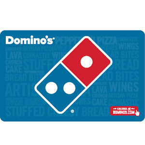 domino 39 s pizza gift card 25 50 or 100 fast email delivery ebay. Black Bedroom Furniture Sets. Home Design Ideas