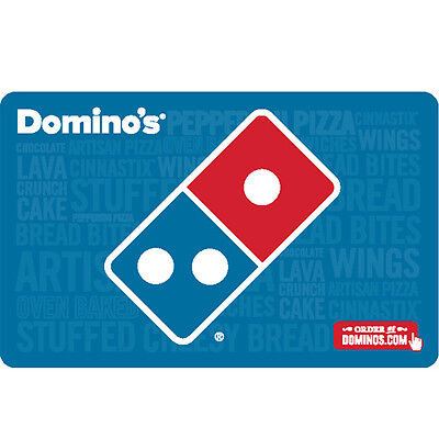 Domino's Pizza Gift Card - $25 $50 or $100 - email delivery