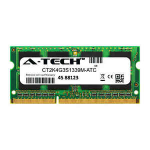 4GB-DDR3-PC3-10600-1333MHz-SODIMM-Crucial-CT2K4G3S1339M-Equivalent-Memory-RAM