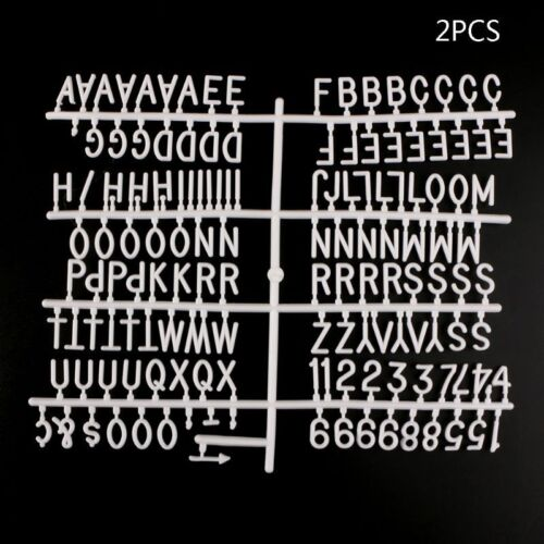 340Pc ABC Capital Numbers Characters For Felt Letter Board Changeable Sign Board