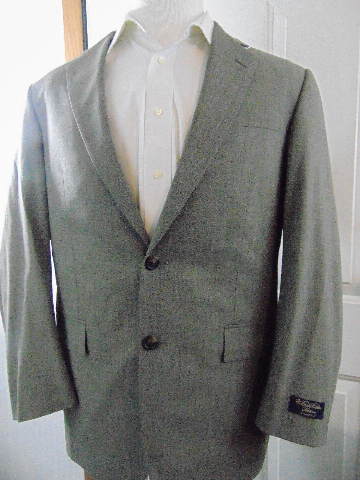 NWT Brooks Brothers Madison BrooksCool 40R grau Braun Taupe TextuROT Sportcoat