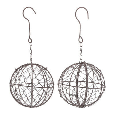Iron Rustic Wire Ball Frame Succulent Pot Hanging Decoration