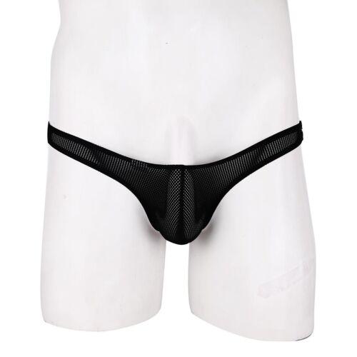 US Mens Maid Leather Panties Zipper Crotch Bowknot Sissy Bikini Briefs Underwear