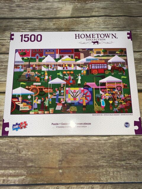 Sure-Lox Art Hometown Collection Market 1500 Piece Jigsaw Puzzle NEW Sealed