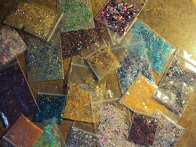 glitter mixes  grab bag 5 different mixes acrylic gel nail art