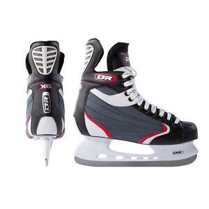 New DR X6 ice hockey skates senior mens size 11.5 sr sz recreational