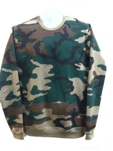 Sizes Small /& Medium Only Army /& Military Woodland Adult Fleecy Knit Crew