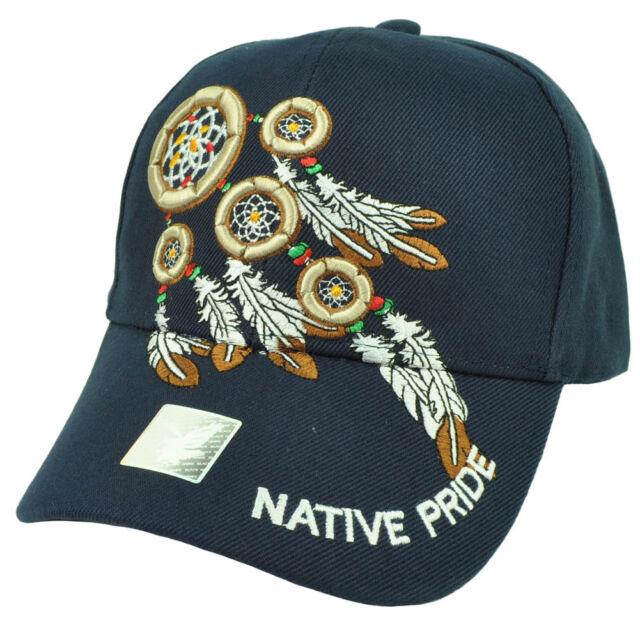 Native Indian American Pride Dream Catchers Symbol Feather Navy Blue