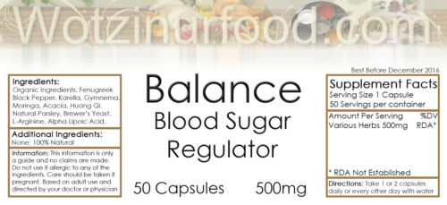 Blood Sugar Balance Moringa Gymnema Astragalus Fenugreek Karella Organic 500mg