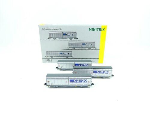 neu OVP Minitrix 15282 Schiebewandwagen-Set der SBB