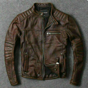 Men-s-Motorcycle-Biker-Vintage-Cafe-Racer-Distressed-Brown-Real-Leather-Jacket