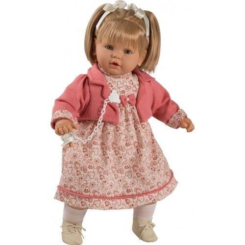 Berbesa - Dulzona muñeca bebé llorona con vestido de flores, 62 cm caja (8039)