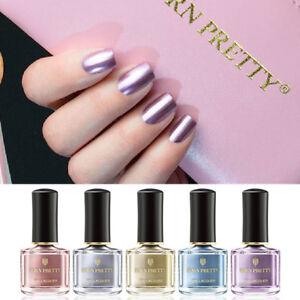 BORN-PRETTY-Nail-Polish-Mirror-Metallic-Rose-Gold-Silver-Nail-Varnish-Nail-Art