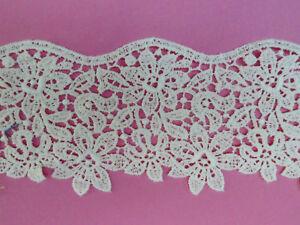 25mm Daisy Guipure Lace Trimming White per metre