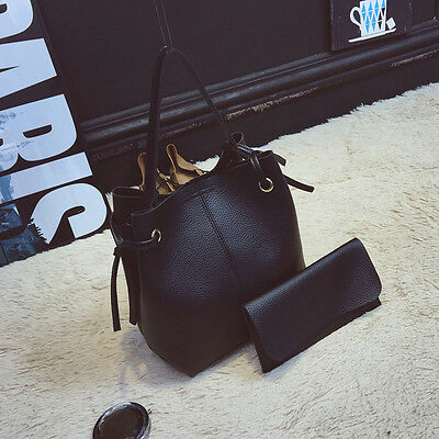 Women' New Messenger Shoulder Bucket Bag Satchel Bags Leather Tote Handbag Purse