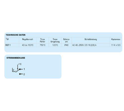 ESBE Rauchgastemperaturregler RGT-1 Regelbereich 40-160 °C 8690400012