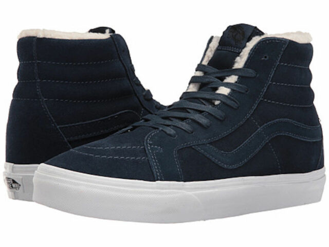 VANS Sk8 Hi Reissue (suede fleece) Dress Blues Faux Fleece W 6   M 4.5  6abedfa63