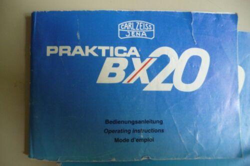 Instrucciones Cámara Praktica BX20 Carl Zeiss Jena-Cd//correo electrónico