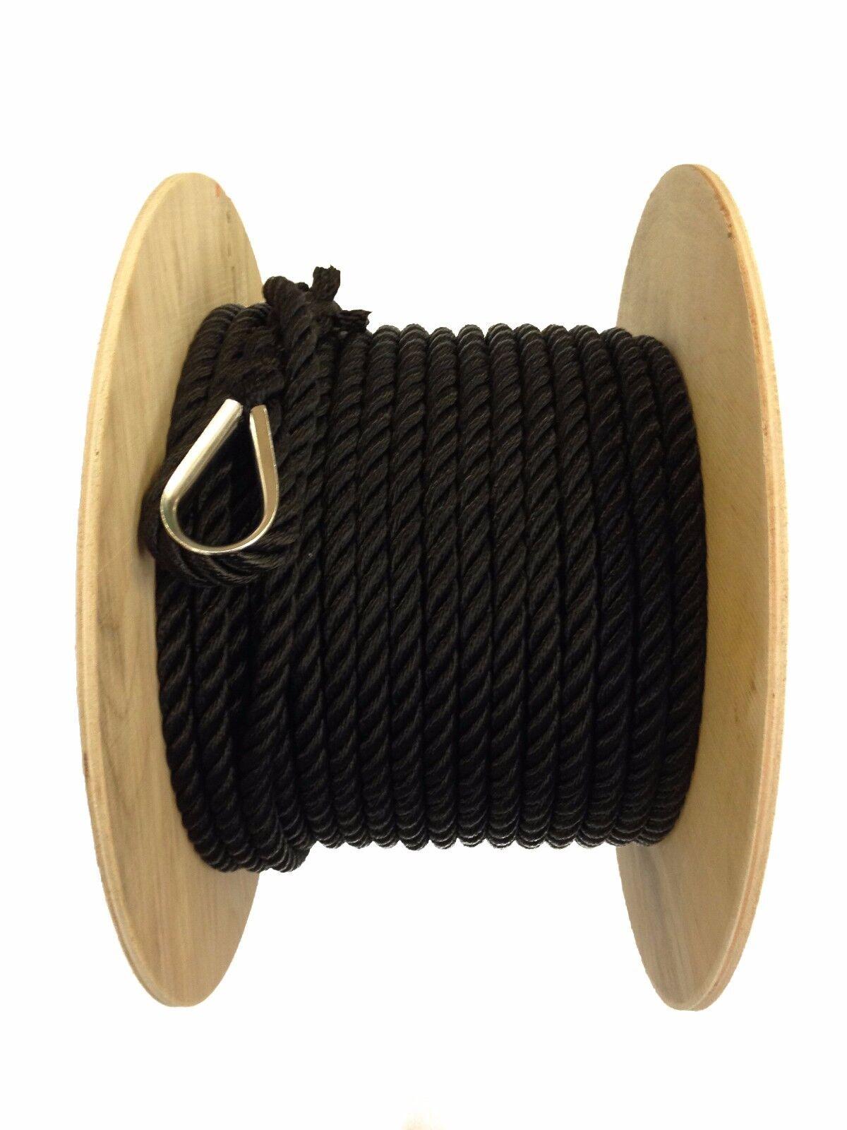 NEU 30 x 10 mm mm mm schwarz Nylon Liegeplatz Seil   Anker Seil   Stiefel Yacht Kanal e4cc03