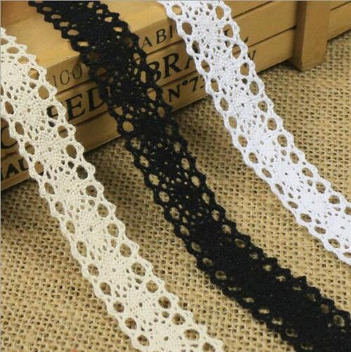 5 Yards Cotton Crochet Lace Clothing Tablecloths decoration Sewing Hats