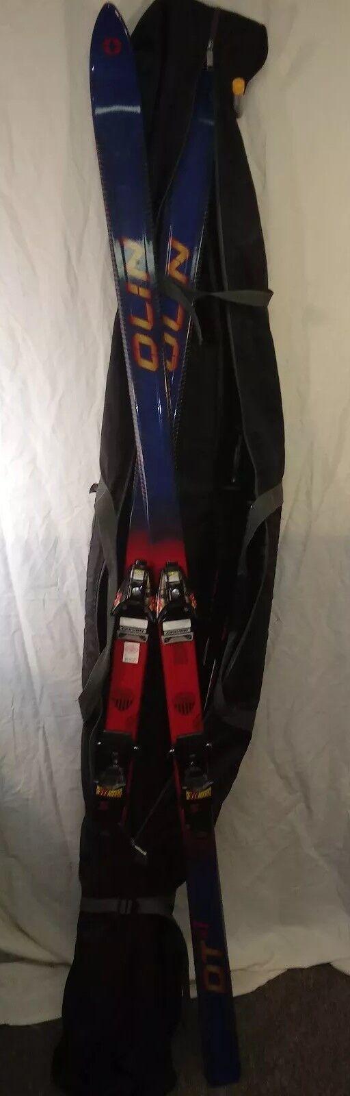 Olin DTsl Skis w  Salomon 777 Bindings, Kerma Vector Poles in Carrying Bag