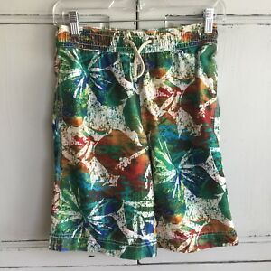 Swim Size Xl Shorts Multi Trunks Boys Gap Print Hawaiian 12 Kids Hibiscus Board FxXvqwxnCg
