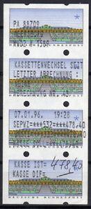 Allemagne ATM 2 * caisses changement liquidation 4er-Rayures * PA 88709 Meersburg-afficher le titre d`origine OFBd5T6g-07154302-492920022