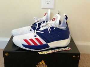 Details about Adidas James Harden Vol 2 USA White Blue Red Mens sizes AQ0026