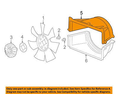 GM OEM Cooling Fan-Radiator Fan Shroud 15204231
