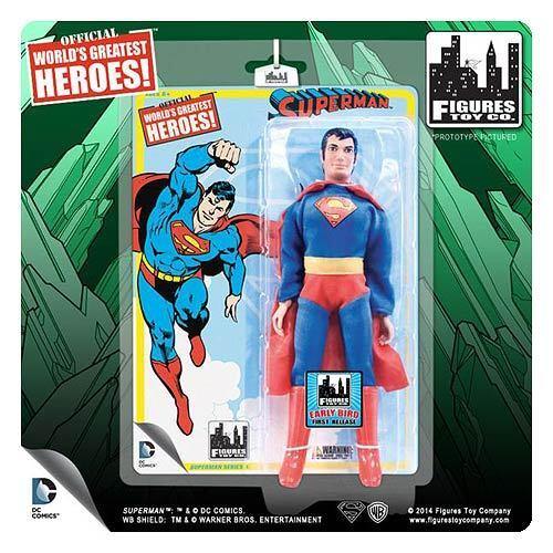 SUPERMAN DC Retrò 8 pollici Serie 1 SUPERMAN ACTION FIGURE