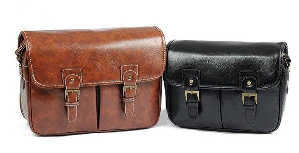 Vintage SLR DSLR Camera Shoulder Bag Photo Cases Canon Nikon Sony Pad Insert