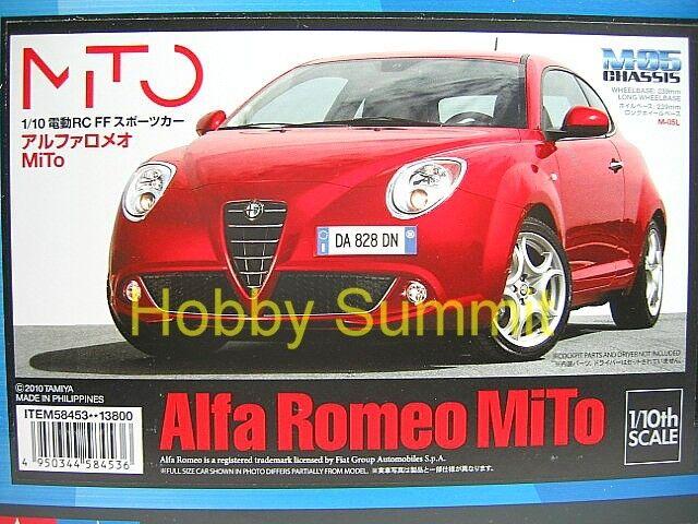 Tamiya 1 10 R C  ALFA  ROMEO MiTo  w  ESC  M-05 Chassi Touring auto Kit  58453  essere molto richiesto