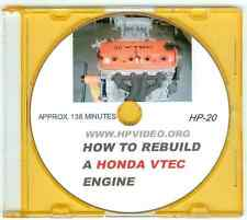 """How to Rebuild Acura RSX Civic Accord 1.8 2.4L VTEC Engine Video Manual """"DVD"""""""